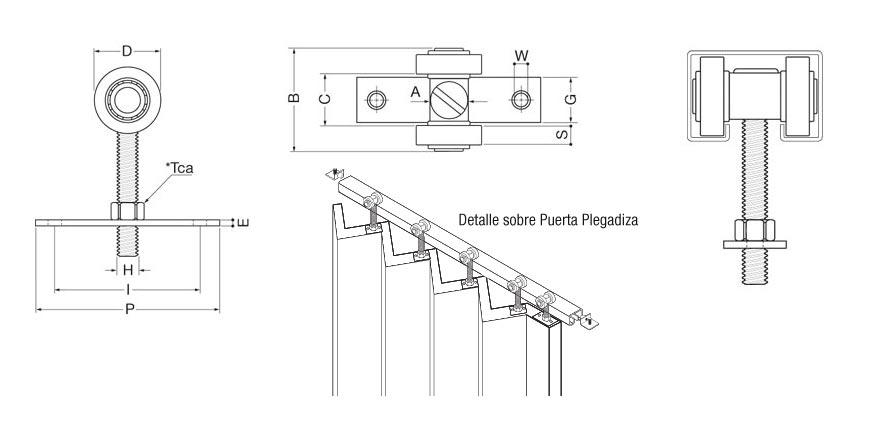 guias de aluminio para puertas corredizas  perfiles de